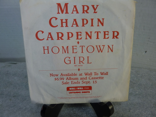 "Mary Chapin Carpenter Promo "" HomeTown Girl "" 7"" 33 RPM Single"