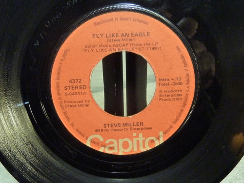 "Steve Miller Band "" Fly Like An Eagle "" 45 RPM Record"