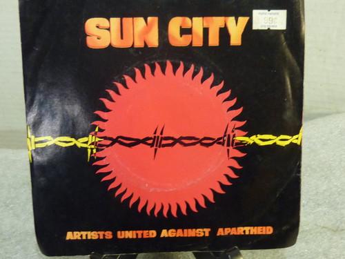 """Sun City  Artist United Against Apartheid Promo 7"""" Record"""