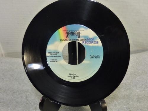 "Olivia Newton-John ""Magic "" 7in Record 45 RPM"