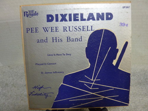 "Pee Wee Russell And His Band Dixieland 7"" 45 RPM Record"