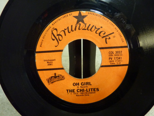 "The Chi-Lites "" Oh Girl "" Single 45 RPM Record"