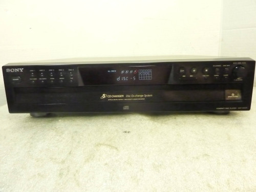 Sony CDP-CE275, 5 Disc CD Player Changer w/ Digital Out, Serviced
