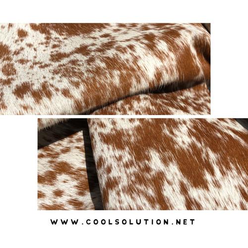 Silver Metallic Acid Wash Devorre White Cowhide 8 x18 panel