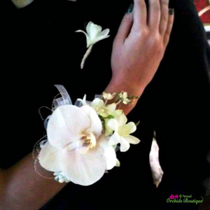 Phalaenopsis and Dendrobium Orchid 2  Corsage and Boutonniere