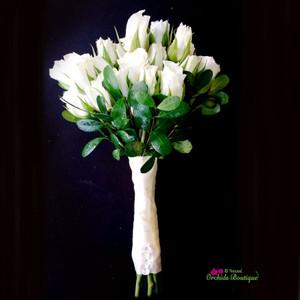 White Mini Spray Roses Bouquet
