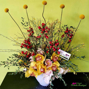 Into Fall Exotic Flower Arrangement