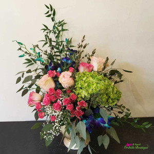 Dramatic Love Flower Arrangement