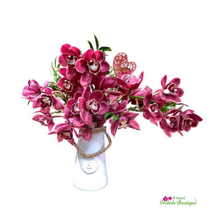 Exotic Cymbidium Orchid Arrangement