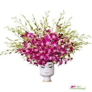 Wild Hair Piece Dendrobium Orchids Flower Arrangement