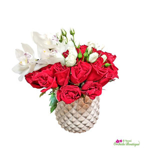 Twelve Roses Of Love Flower Arrangement
