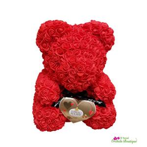 Bear Me Baby Mini Roses Flower Arrangement
