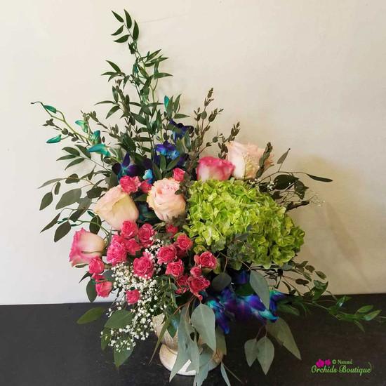 Dramatic Love Flower Arrangement
