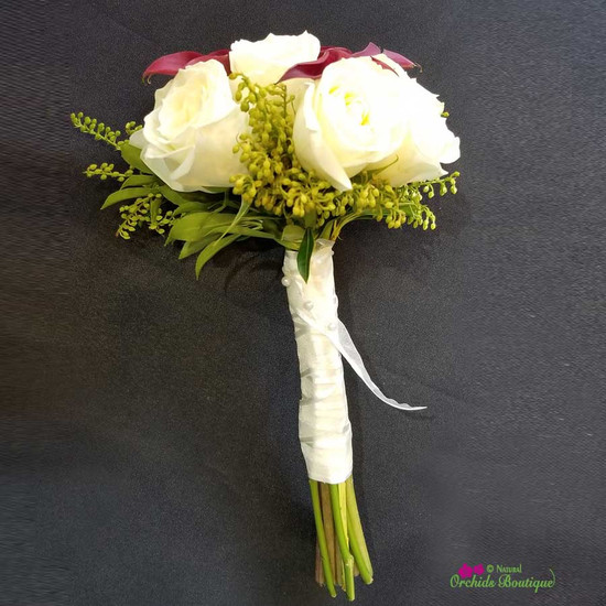 Roses With Calla Lilies Prom Bouquet