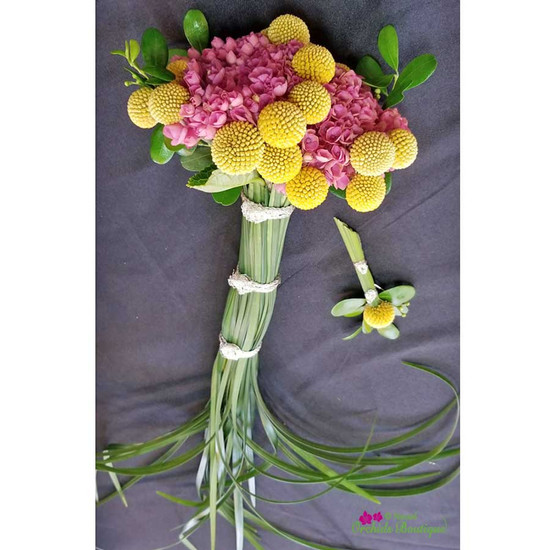 Exotic Mini Prom Bouquet And Boutonniere