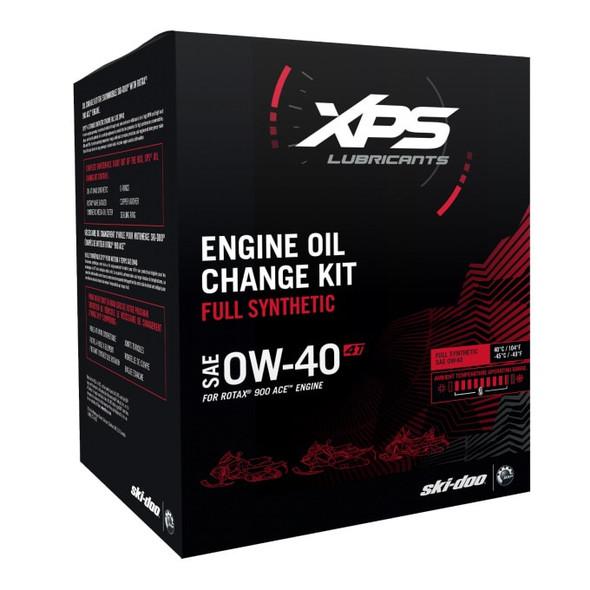 779254 BRP XPS Ski-Doo Oil Change Kit SAE 0W-40 Rotax 900 Ace Engine