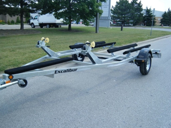 Excalibur Double Personal Watercraft Trailer - Galvanized