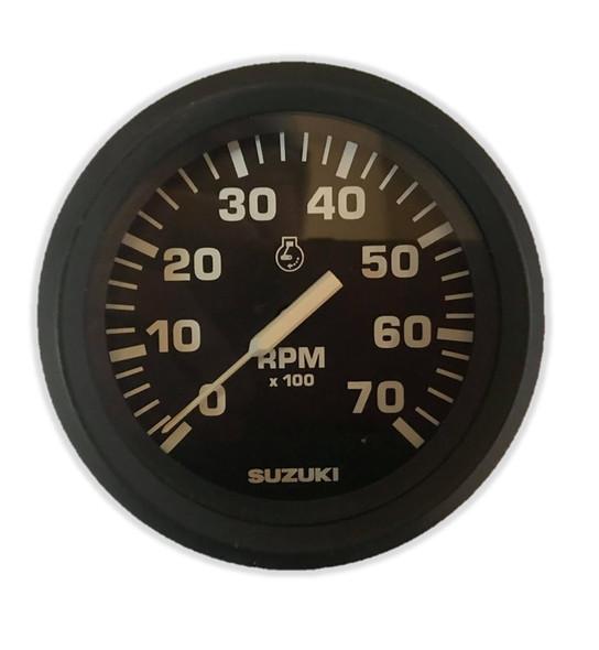 """99105-80000 Suzuki 4"""" Black RPM Tachometer Gauge"""