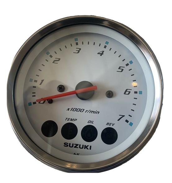 34200-93J12 Suzuki White Tachometer Gauge w Monitor