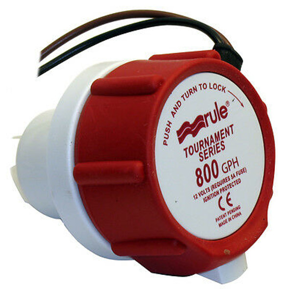 46DR Rule Livewell 800GPH Replacement Motor Cartridge