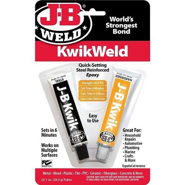 8276CAN J-B Weld Kwik Set Bonder Weld Quick Epoxy