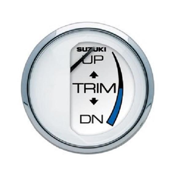 """90105-80105 Suzuki 2"""" White Trim Gauge"""