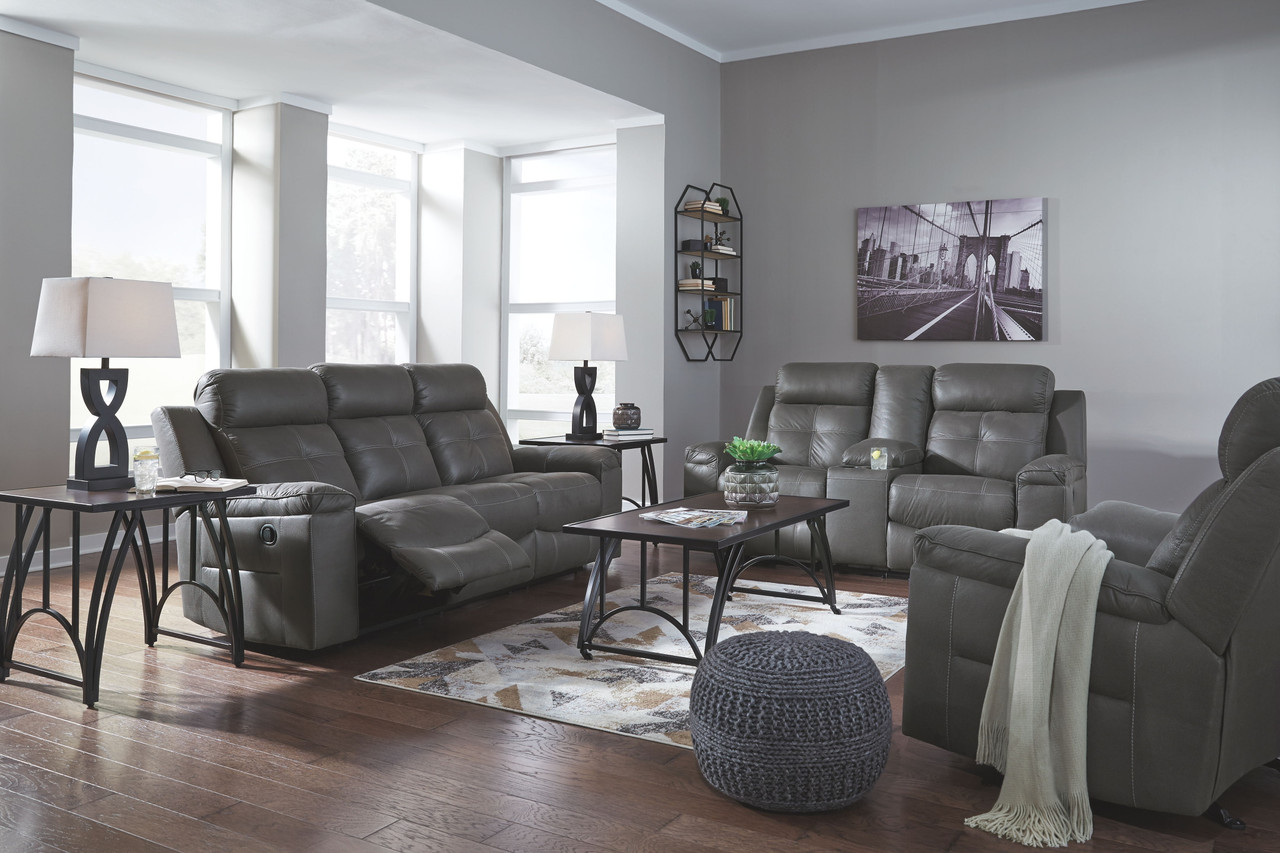 Jesolo Dark Gray Motion Sofa & Loveseat