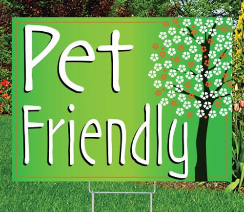 "PET FRIENDLY - 18"" x 24"" Sign - Flourish Theme"