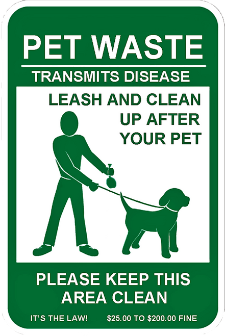 Legal Requirement Sign for Pet Waste Stations