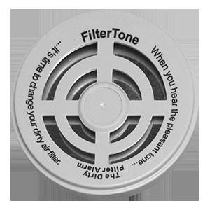 Filter tone dirty air filter alarm