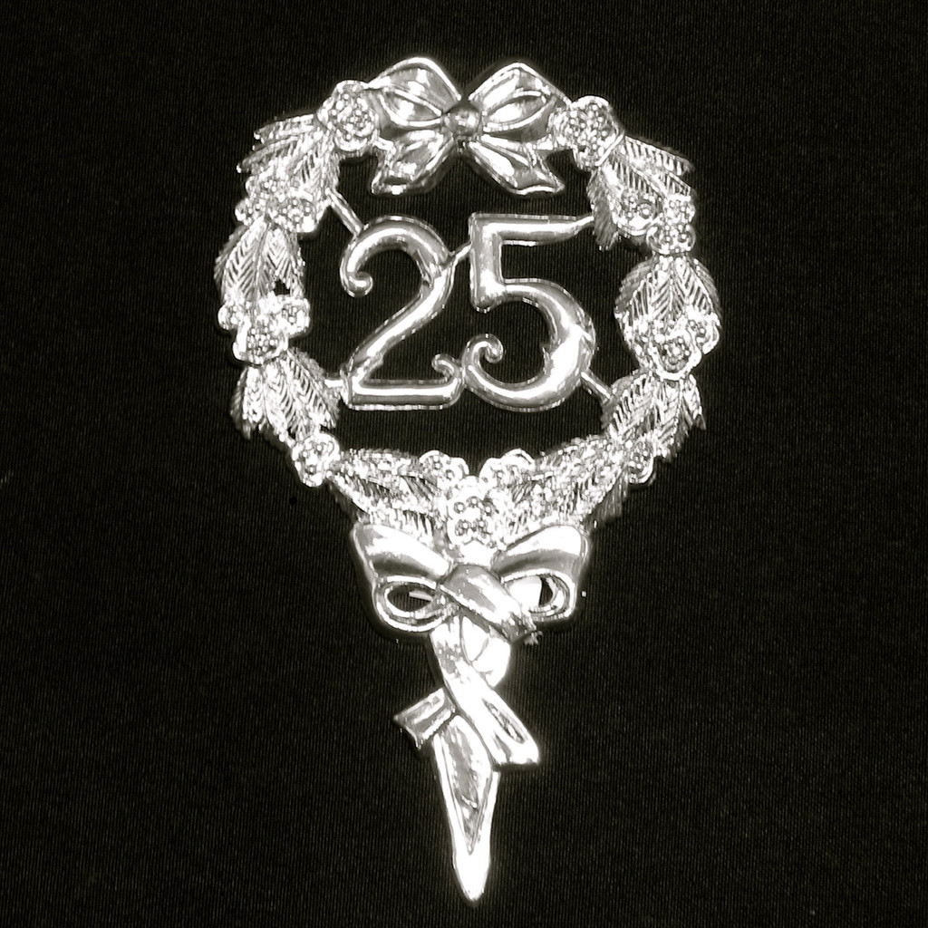 Silver 25th Emblem