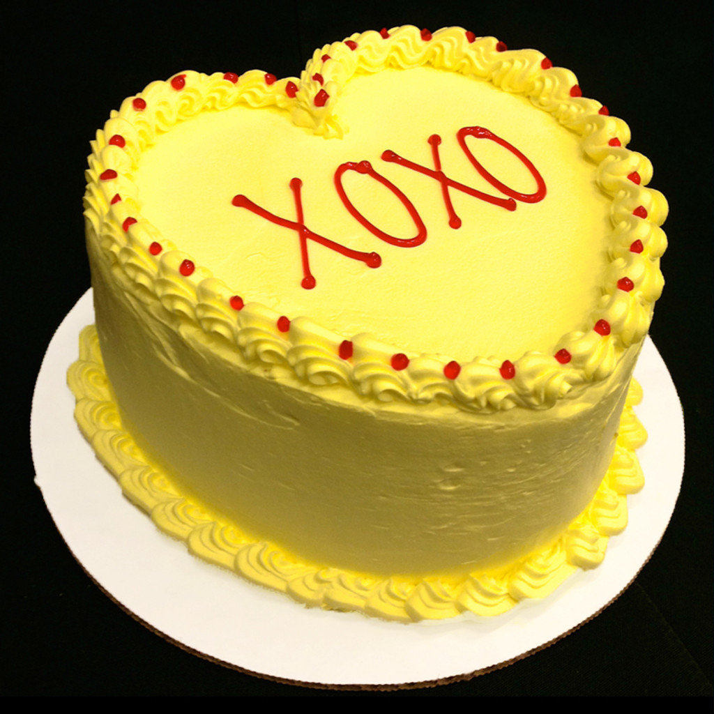 Yellow frosting.