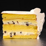 CANNOLI: the Italian classic...moist layers of Yellow cake filled with Cannoli cream studded with mini, gourmet chocolate chips and non-alcoholic Amaretto custard. Add $5.