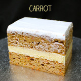 Our unique, Italian version of an American favorite. Small bits of carrot with the necessary spices make this an extra moist spice cake. No nuts, no raisins, no coconut, just our French Vanilla custard.