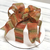 Smooth frosting with Fall Color blend bow.