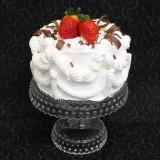 "Classic Cathy's Rum Cake (6"" round cake with 2 strawberries)"