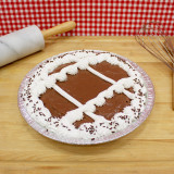 Chocolate Chocolate Rum Cake Pie