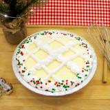 Eggnog Cake Pie