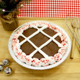 Chocolate Candy Cane Cake Pie