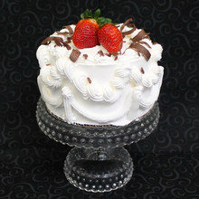 "Classic Cathy's Rum Cake (6"" round cake with 2 strawberries)"