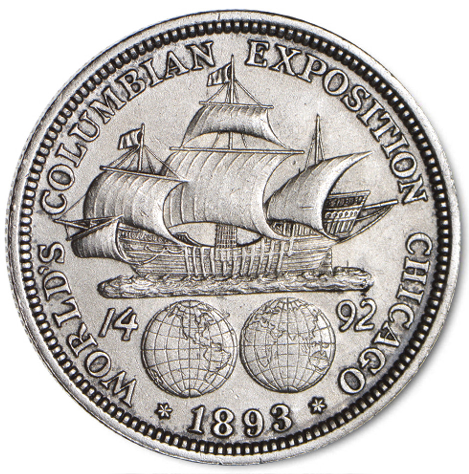 The 1893 Columbian Exposition Silver Half  Dollar in Extremely Fine Condition