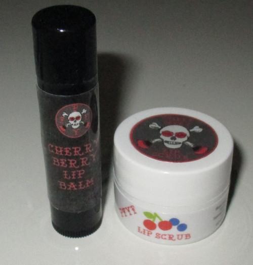 Cherry Berry Balm/Scrub Duo