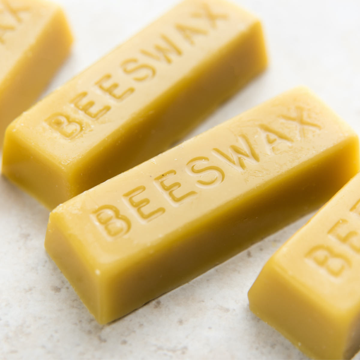 We use natural beeswax in our balms and candles