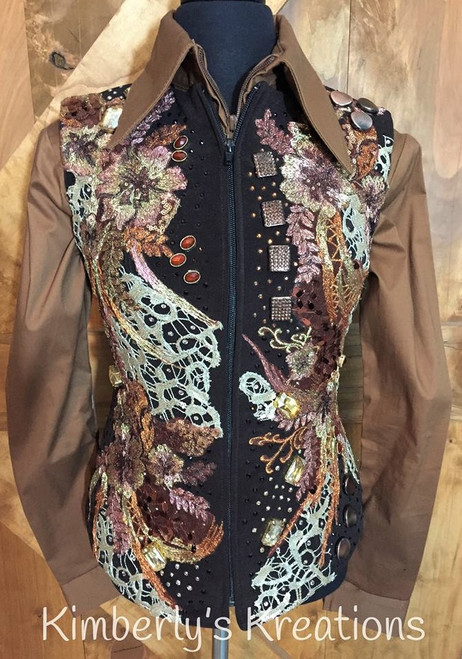 Brown, Copper and Tan Show Vest - Youth 14/16 or Ladies Size 0