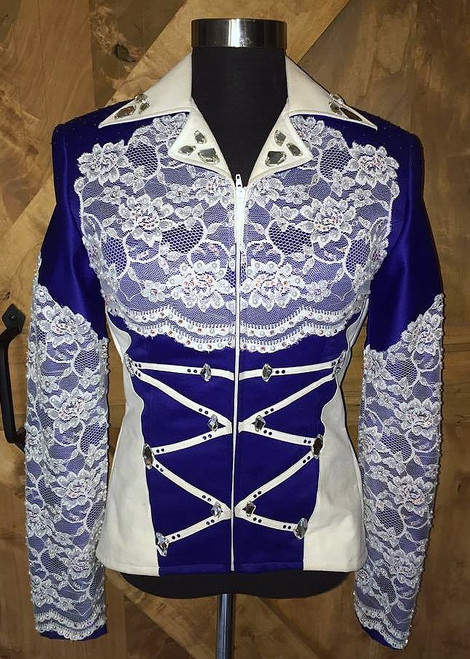 Royal Blue, White and Cream Showmanship Set - Juniors Size 5