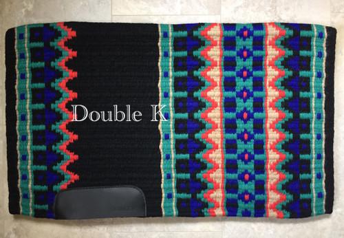 Black, Royal, Tan, Burnt Orange and Jade Double K Show Blanket