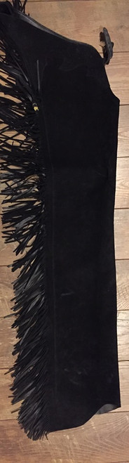 Black Rough Out Chaps - Ladies Size Small