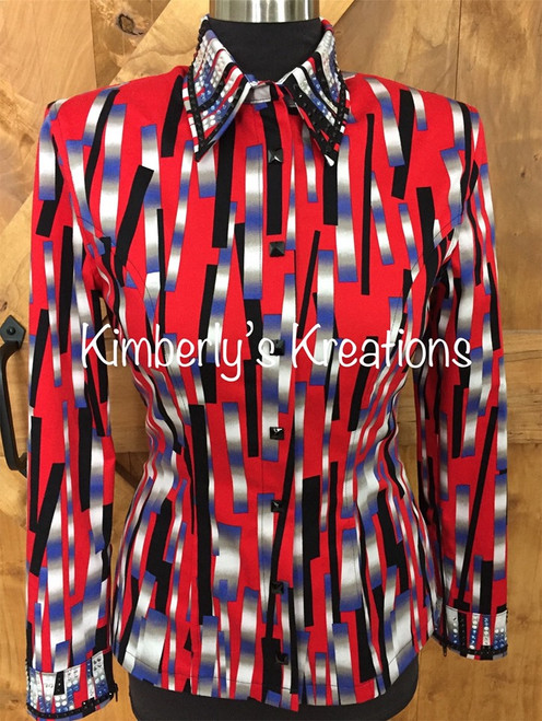 Red, Black, White, Purple and Gray All Day Show Shirt - Ladies Size Small