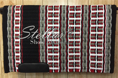 Black, Show Red, Gray, Charcoal and White Stellar Show Blanket - 34 X 41