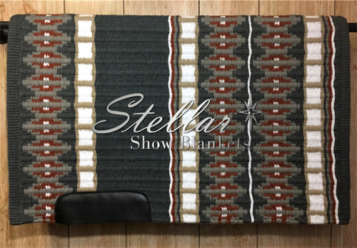 Charcoal, Gray, Rust, Sand and White Stellar Show Blanket - 34 X 43